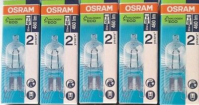 5x OSRAM G9 Hochvoltstiftsockellampe Halopin Halogen Eco Halogenlampe NEU OVP