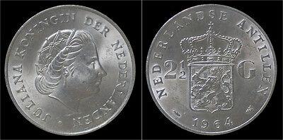 Nederlandse Antillen 2 1/2 gulden (rijksdaalder) 1964
