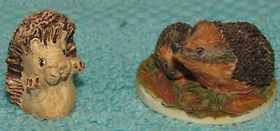 2 Vintage Peter Fagan Adorables Miniatures from Scotland, Hedgehogs