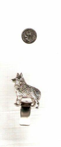 Schipperke Nickel Silver Ring Clip Pin Jewelry LAST ONE!*
