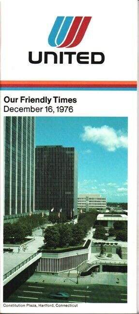 United Airlines timetable 1976/12/16