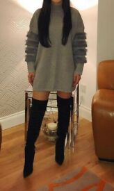 Grey Jumper Dress