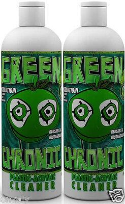 Green Chronic Acrylic Pipe Cleaner / 2 12oz Bottles