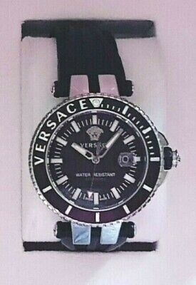 GENUINE VERSACE VEAK00118 V-RACE DIVER MEN'S BLACK WATCH