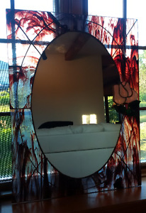 One of a kind Stained glass mirrors