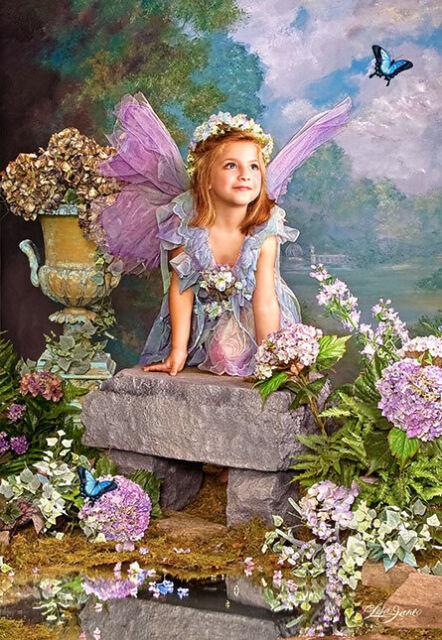 Puzzle Puzzel Spring Angel Engel Mädchen Kind Blumen Romantik Fantasy 1500