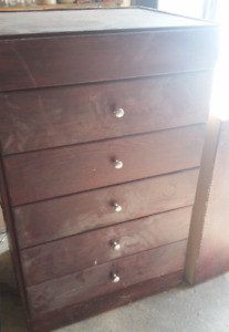 WOOD STORAGE CABINETS DRAWERS AND DOORS