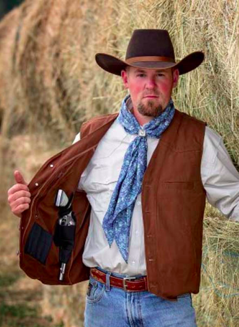 Wyoming Traders Mens Texas Concealed Carry Snap Up Canvas We
