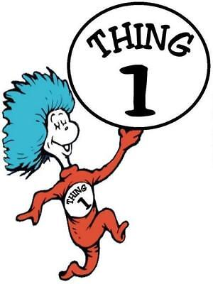Thing 1 and 2  # 11 - 7.25 x 9.75 T-shirt iron-on transfer Thing 1 ONLY (large) - Thing 1 And Thing 2 Iron On