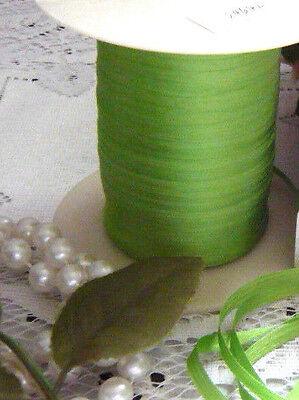4 YARDS BUCILLA 4mm LT EMERALD 100% Silk Ribbon Vintage Bisque Doll Dress Trim