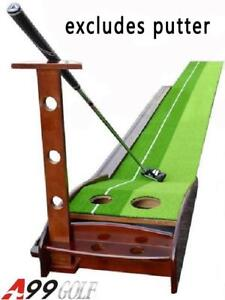 NEW WP01 9 1/2' putting mat with return track wood base