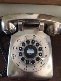 Vintage Telephone - Silver look