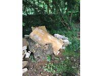 large stone slabs