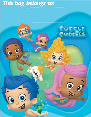 Bubble Guppies Birthday Party (BUBBLE GUPPIES HAPPY BIRTHDAY party treat LOOT BAGS favor goodies Deema Gil)
