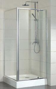 Brand New Shower Screen, 850x850x1950 6mm Glass Semi-Frameless Corner Shower