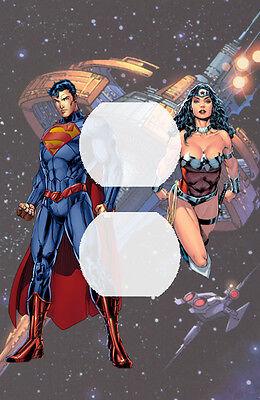 Handmade Superman Wonder Woman Single Duplex Outlet Plate Cover