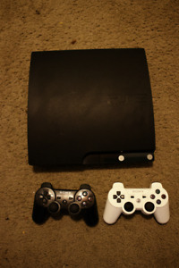 PS3 120 gb with 2 controllers and games