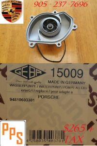 PORSCHE WATER PUMP GEBA