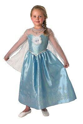 Elsa Deluxe Frozen Mädchenkostüm Disney Eisprinzessin Fasching Karneval , (Deluxe Eis Prinzessin Kostüm)