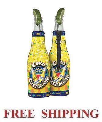 Beer Huggies (CORONA EXTRA LIGHT CINCO DE MAYO 2 BEER BOTTLE KOOZIE COOLIE COOLERS HUGGIE)