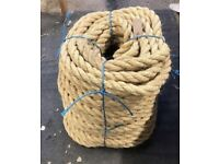 Rope 30mm natural sisal rope 120mtrs