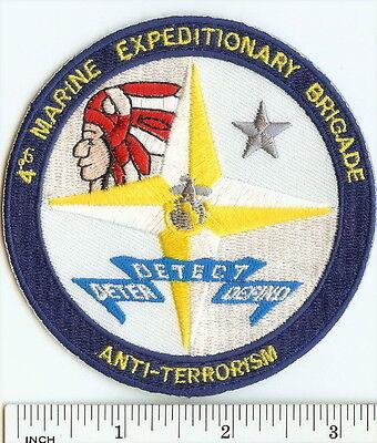 USMC 4th MEB(AT) Marines PATCH 4th Marine Expeditionary Brigade Anti-Terrorism ! ()