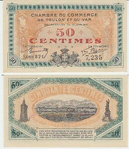 Gertbrolen billet 50 centimes chambre de commerce de for Chambre de commerce du var