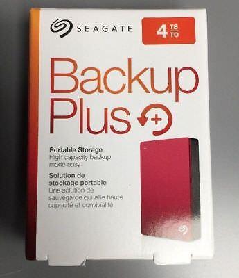 Seagate Backup Plus 4TB Portable External Hard Drive USB 3.0 RED stdr4000902
