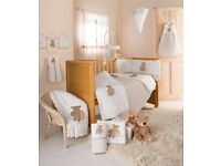 Kiddiecare And So To Bed Nursery Bedding Set cot bumpers, duvet and blankets & matching accessories