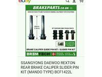 SSANGYONG DAEWOO REXTON REAR BRAKE CALIPER SLIDER PIN KIT (MANDO TYPE)