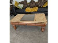 Solid Distressed Coffee Table / Side Table