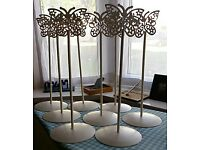 Wedding butterfly table number stands
