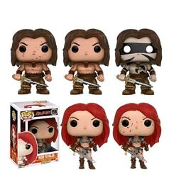 Conan and red Sonja funko pop set of 5. Variants and bloody