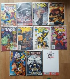 X-Men assorted back issue bundle, 11 issues