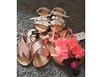 Bundle of sandals size 2 BNWT
