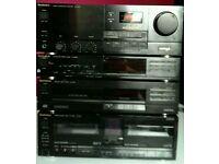 Technics Midi seperates system - 60W amp - CD player - tuner - cassette SU-X955 SL-PJ25