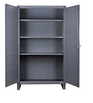 Storage Cabinet Commercialindl - 12 Gauge Steel - 3 Shelf - Gray - 66x36x24 D