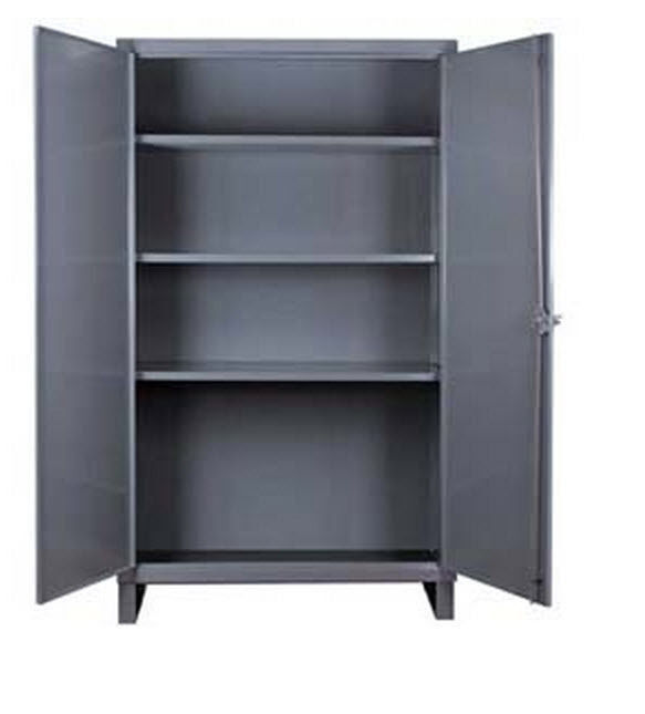Storage Cabinet Commercial/indl - 12 Gauge Steel - 3 Shelf - Gray - 66x36x24  D