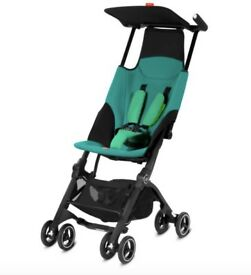 GB Pockit Stroller - Green & Black - Excellent Condition