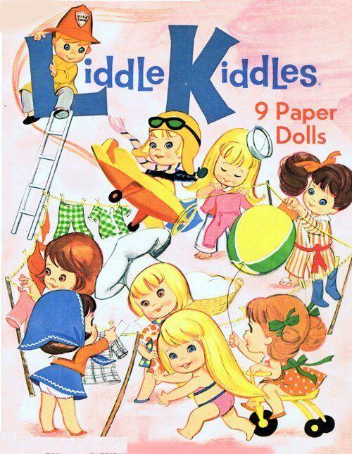 9 Vintage Liddle Kiddles Paper Doll Books On Cd