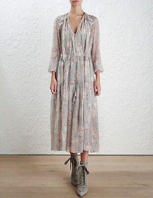- BNWT Authentic Zimmermann Stranded Garland Silk Dress