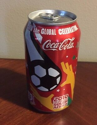 2010 Fifa World Cup South Africa Coke Coca Cola Can Vtg Soccer Empty 12 Oz  Can