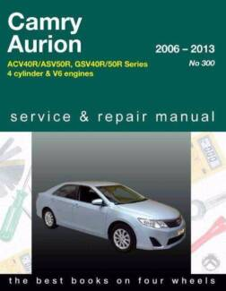 Toyota Camry / Aurion 2006 - 2013 Gregory Owners Service & Repair