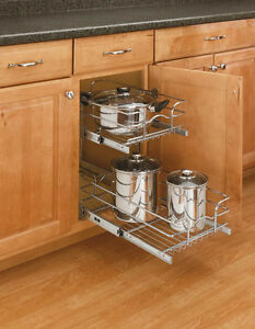 REV-A-SHELF TWO-TIER PULL-OUT CABINET SHELVING UNITS…BRAND NEW