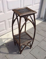 Wicker/ bamboo vase/plant table stand