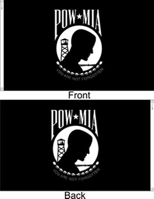 3x5 ft POW MIA DOUBLE SIDED SEAL MILITARY FLAG OUTDOOR NYLON Made in USA