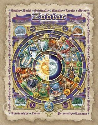 "Zodiac Print Signed by Artist: Rich Normandin; Old World Version 11"" x 14"""