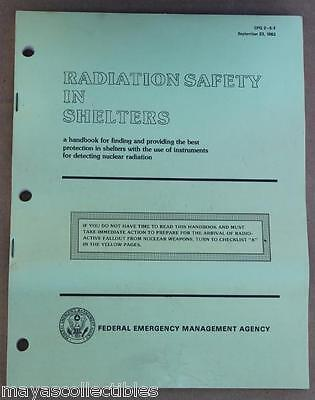 Fema Manual For Radiation Safety In Shelters 66 Pg 1983 Cdv 715 750 742 Handbook