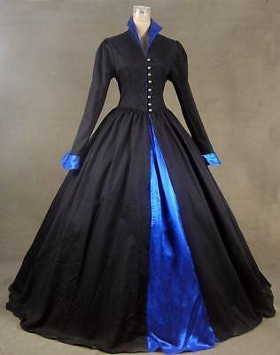 Game of Thrones Tudor Dark Queen Steampunk Dress Witch Halloween Costume N 162
