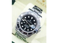 Rolex black submariner £300 or £350 box and papers
